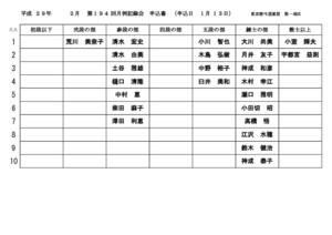 第194回月例記録会申込書(中央支部)